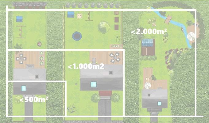 Größe der Rasenfläche ist wichtig für die Kaufentscheidung