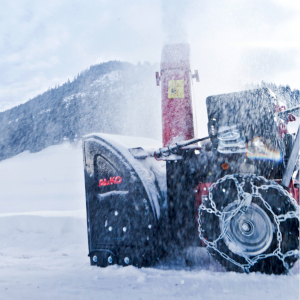 AL-KO Snowline 560 II mit Schneeketten