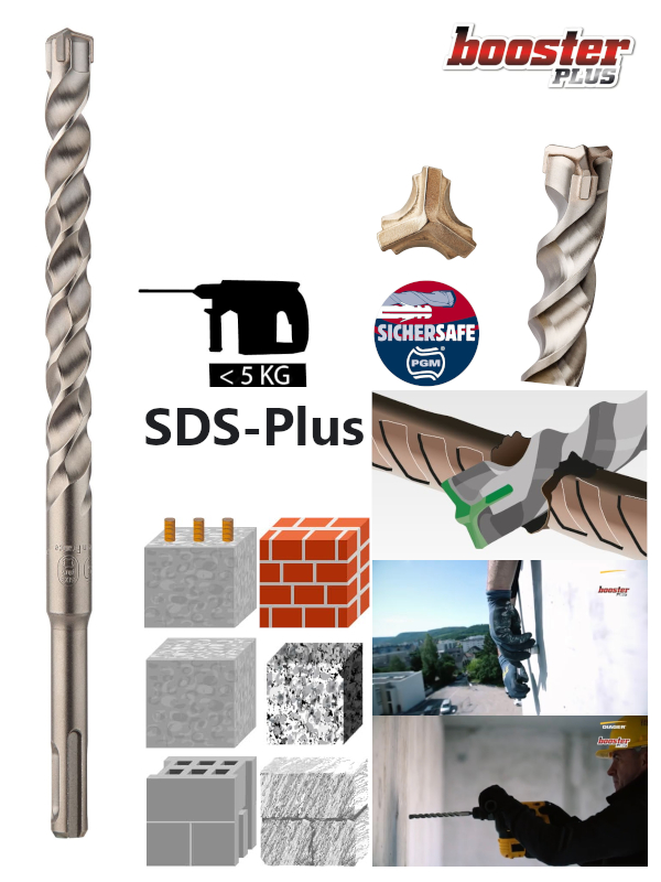 SDS-Plus-Hammerbohrer-Dreischneider-Diager-Booster-Plus