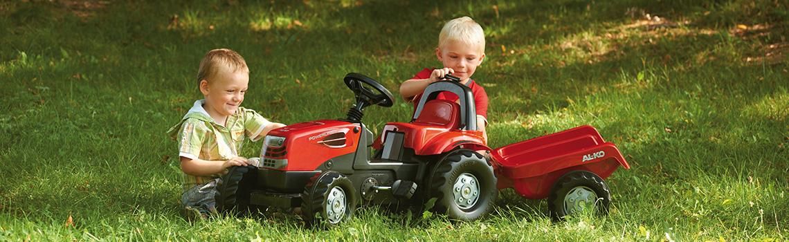 AL-KO Garten Trolley mit Gartenwerkzeug für Kinder