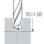 Tieflochbohren schritt 1 - Pilotbohrung