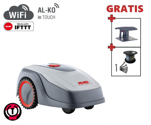 AL-KO Robolinho 500 W - Set mit Robotergarage und Installationsmaterial