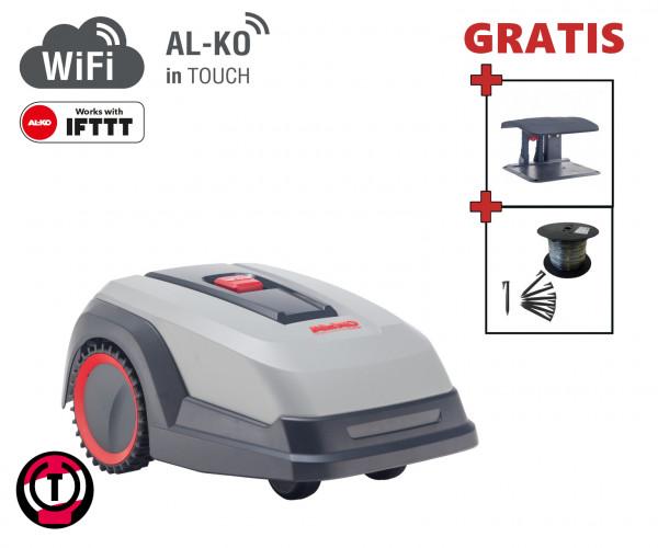 AL-KO Robolinho 1150 W - Set mit Robotergarage und Installationsmaterial