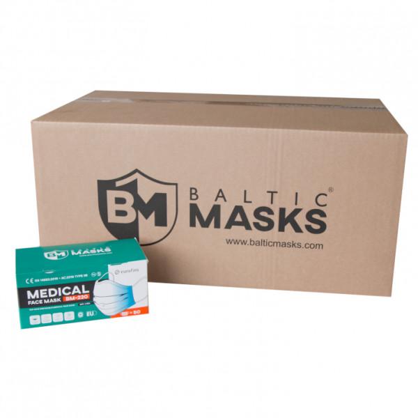 OP-Schutzmaske 3-lagig BFE98% EN14683:2019+A3:2019 Typ IIR
